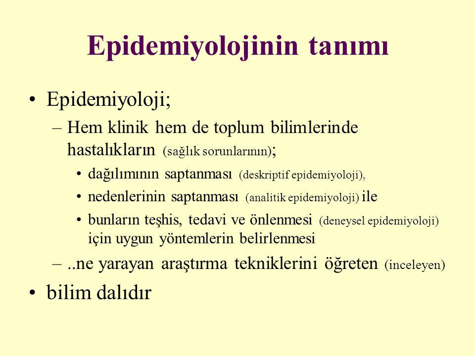 Epidemiyolojinin tanımı