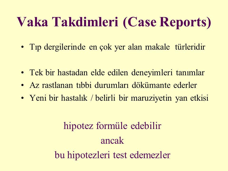 Vaka Takdimleri (Case Reports)