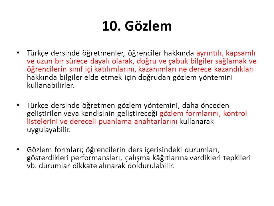 10. Gözlem