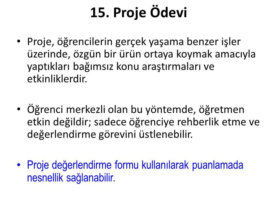 15. Proje Ödevi