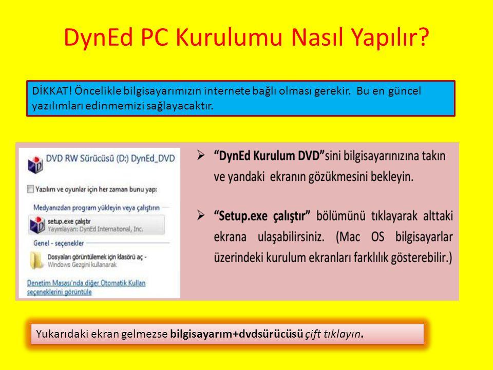 DynEd PC Kurulumu Nasıl Yapılır