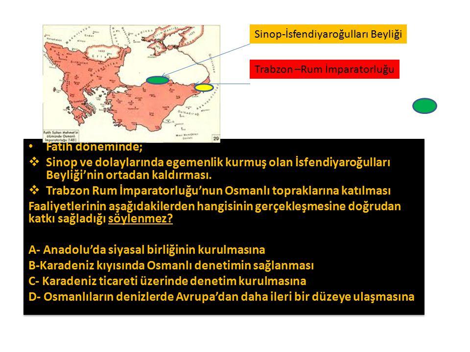 Trabzon Rum İmparatorluğu'nun Osmanlı topraklarına katılması