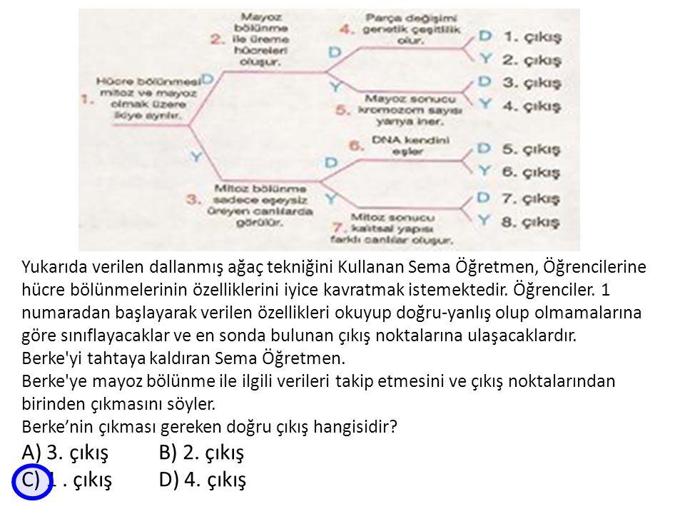 A) 3. çıkış B) 2. çıkış C) 1 . çıkış D) 4. çıkış