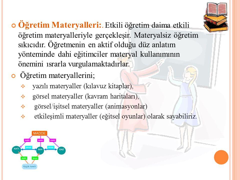 Öğretim Materyalleri:
