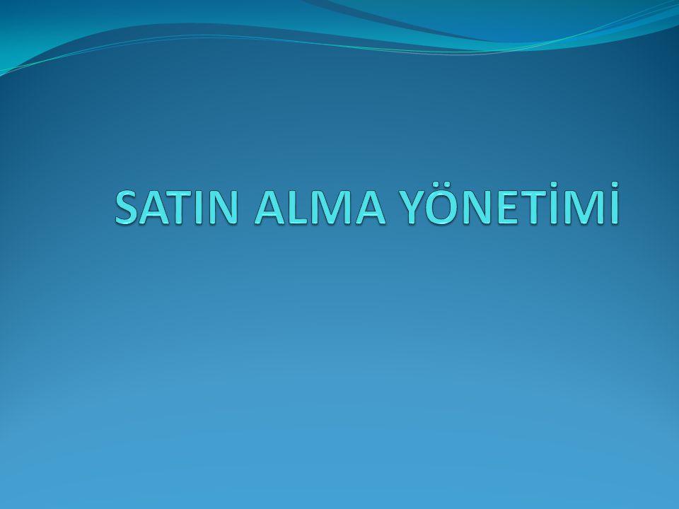 SATIN ALMA YÖNETİMİ