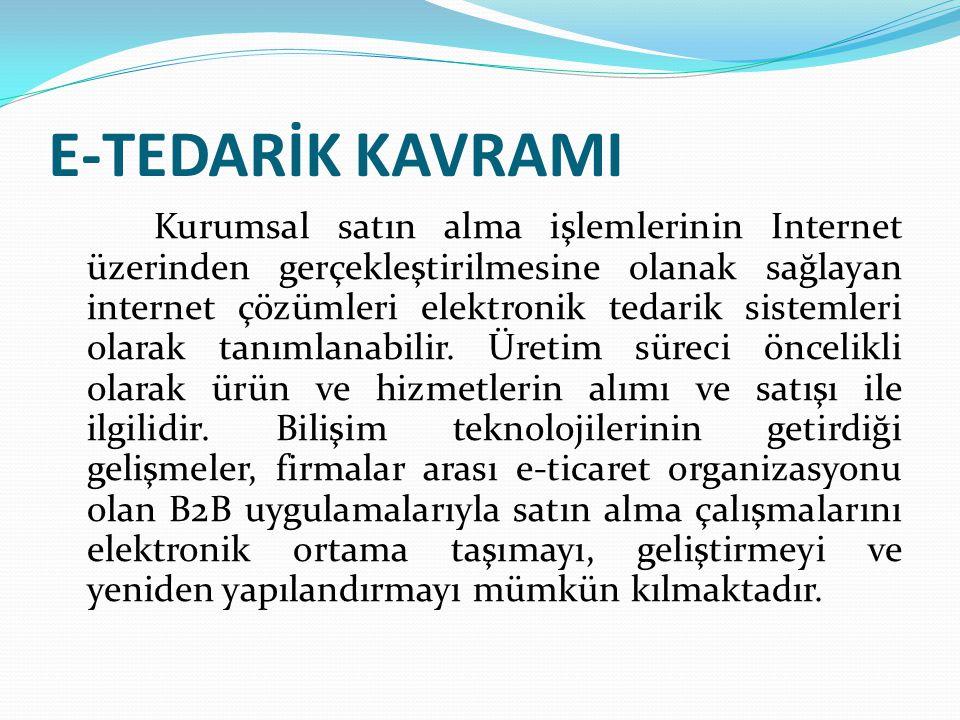 E-TEDARİK KAVRAMI