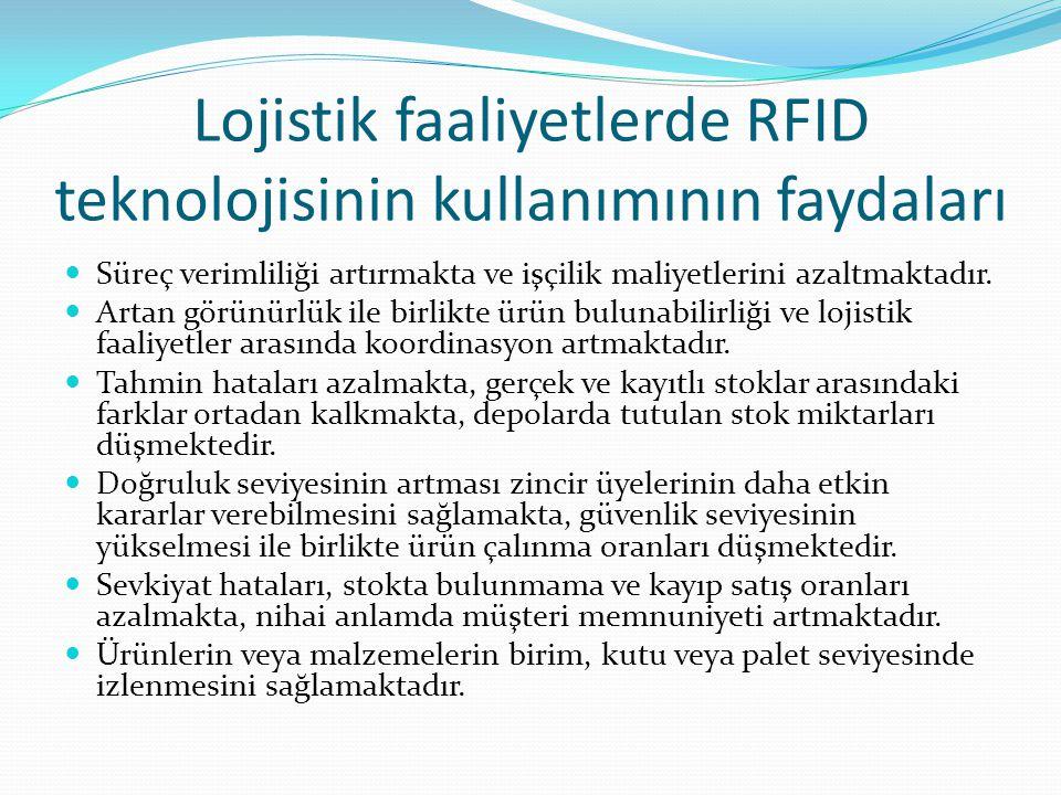 Lojistik faaliyetlerde RFID teknolojisinin kullanımının faydaları