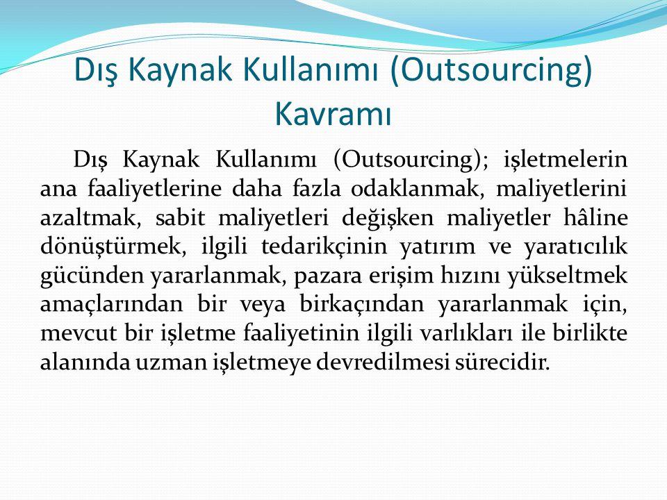 Dış Kaynak Kullanımı (Outsourcing) Kavramı