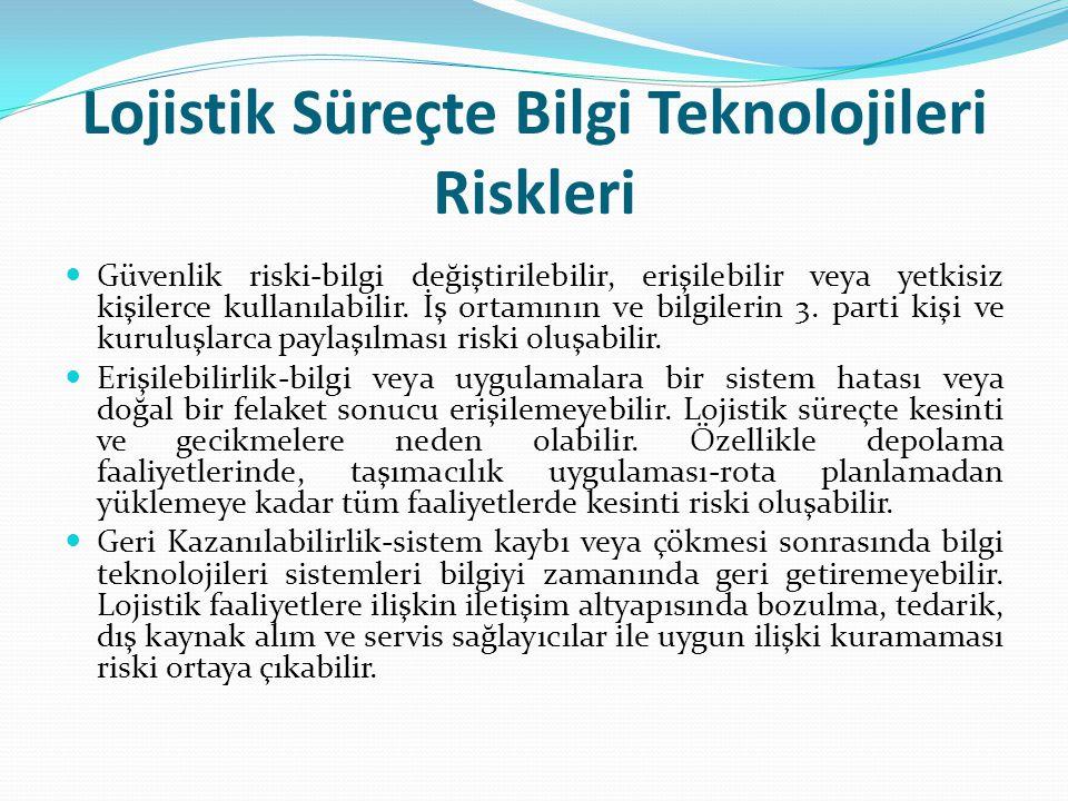 Lojistik Süreçte Bilgi Teknolojileri Riskleri