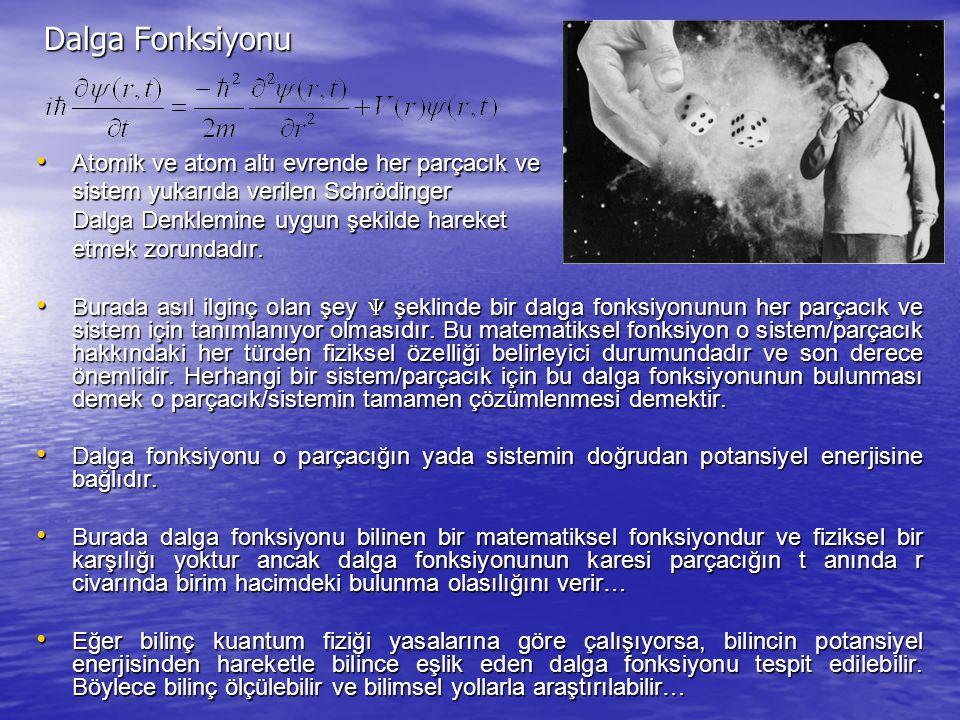 Dalga Fonksiyonu Atomik ve atom altı evrende her parçacık ve