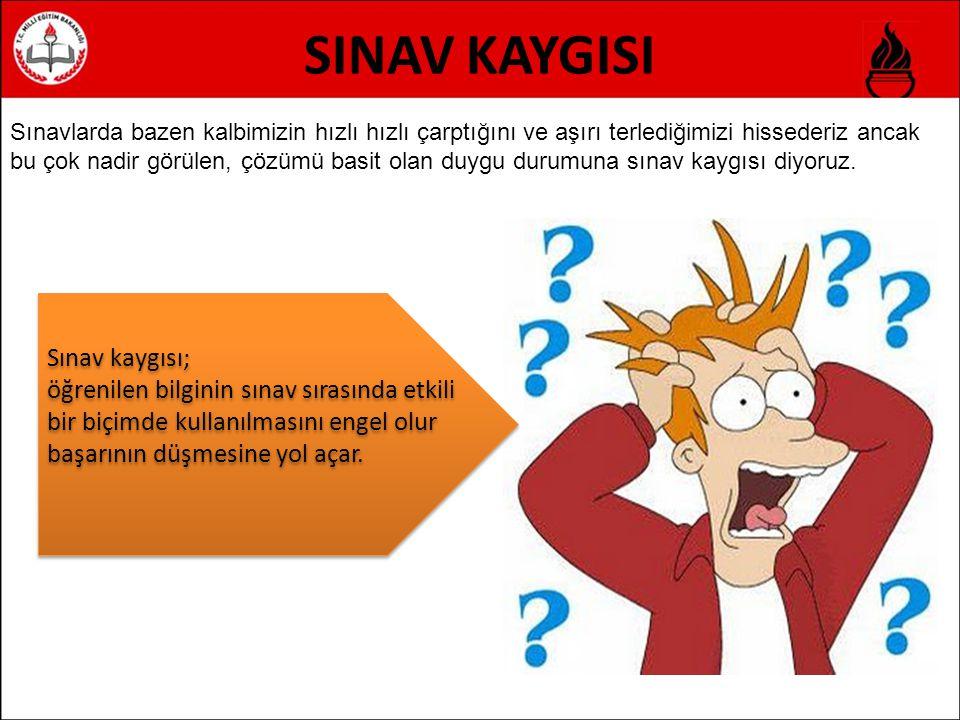 SINAV KAYGISI Sınav kaygısı;