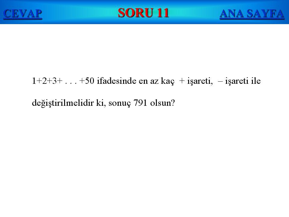 CEVAP SORU 11 ANA SAYFA
