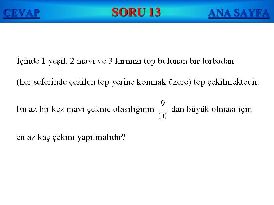 CEVAP SORU 13 ANA SAYFA