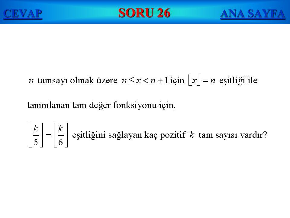 CEVAP SORU 26 ANA SAYFA