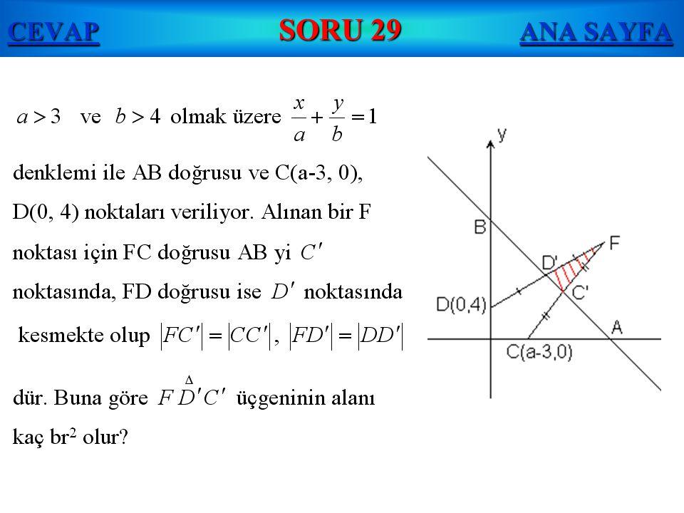 CEVAP SORU 29 ANA SAYFA
