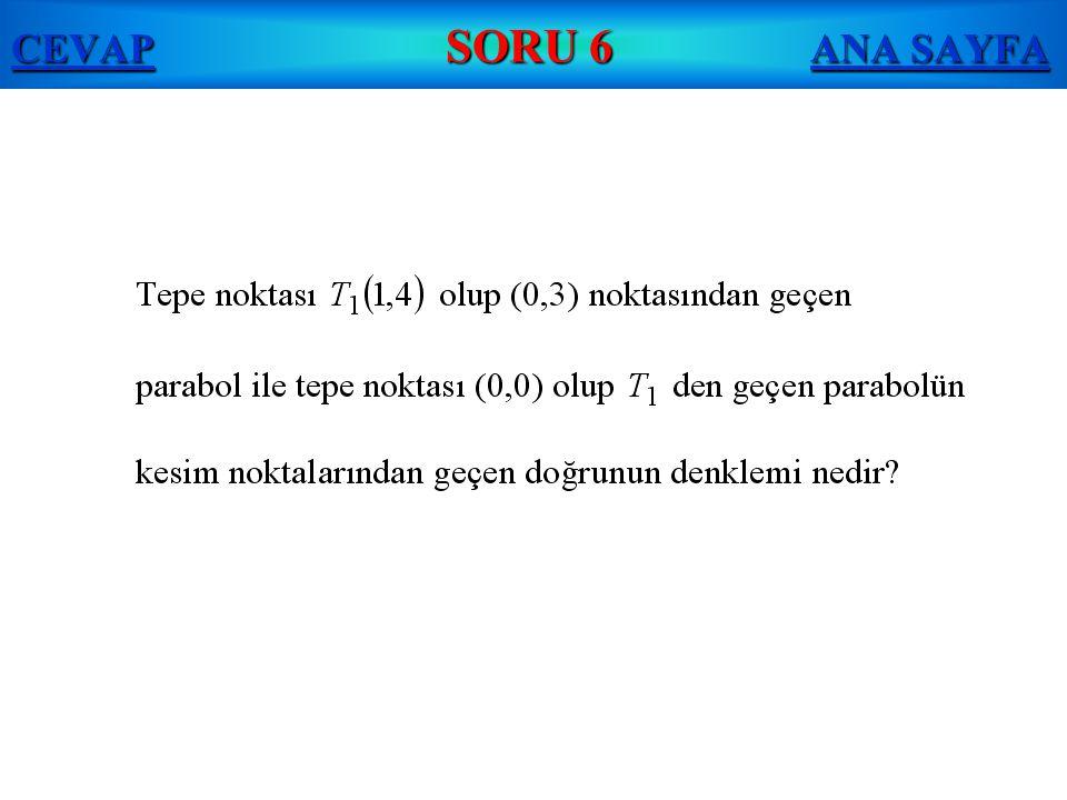 CEVAP SORU 6 ANA SAYFA
