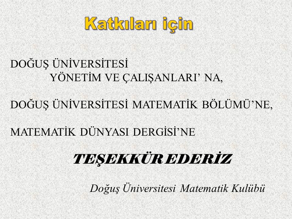 Doğuş Üniversitesi Matematik Kulübü