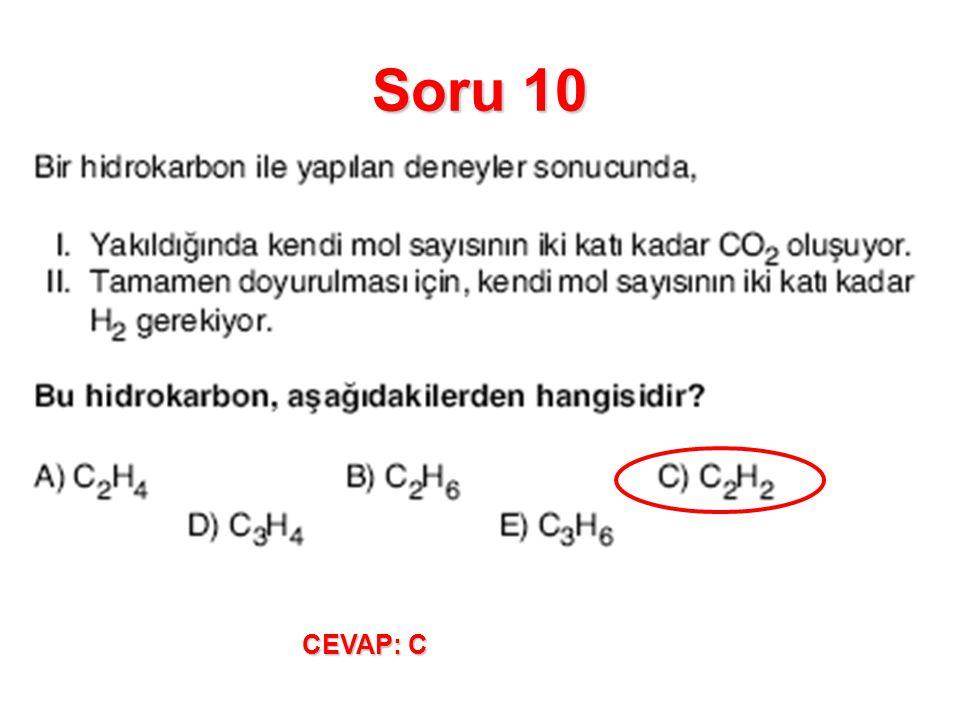Soru 10 CEVAP: C
