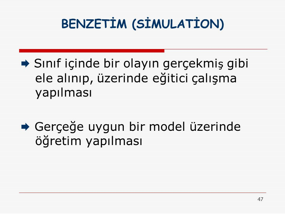 BENZETİM (SİMULATİON)