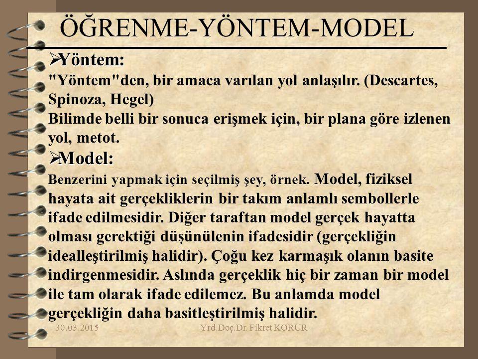 ÖĞRENME-YÖNTEM-MODEL