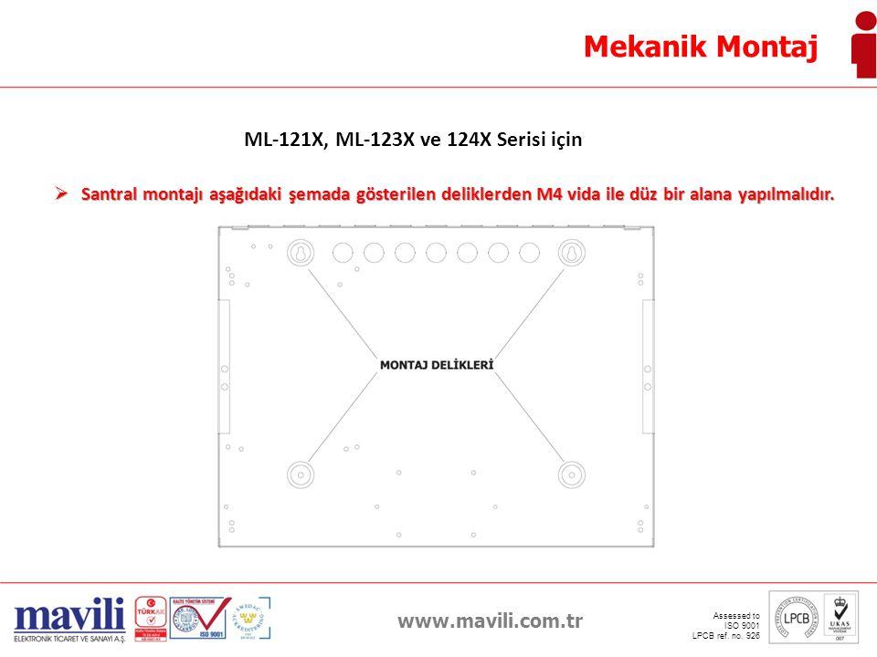 ML-121X, ML-123X ve 124X Serisi için