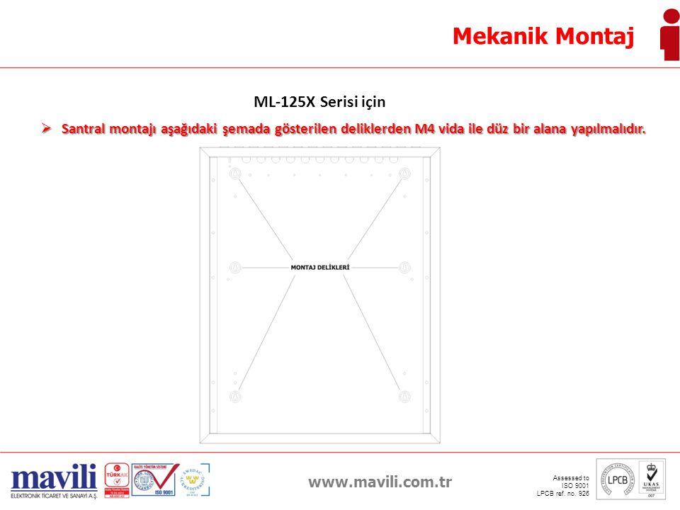 Mekanik Montaj ML-125X Serisi için