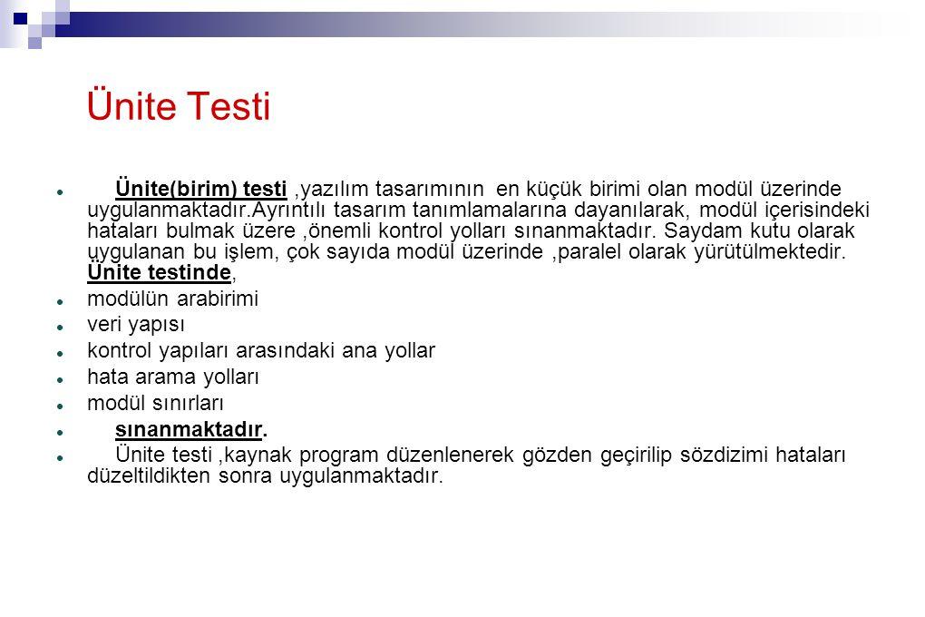 Ünite Testi