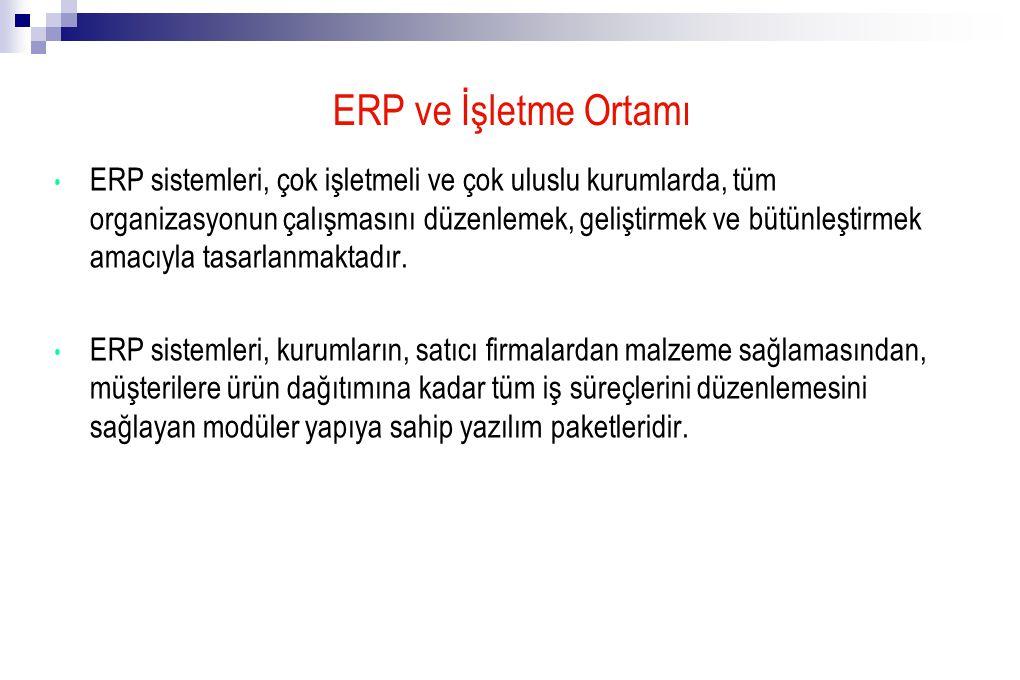 ERP ve İşletme Ortamı