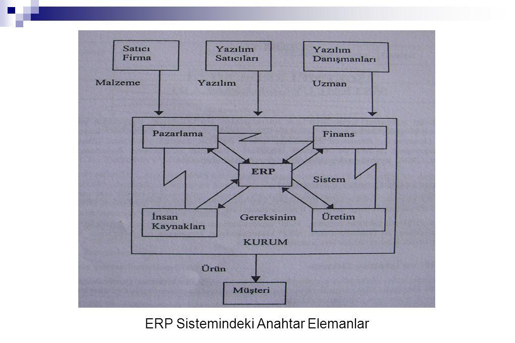 ERP Sistemindeki Anahtar Elemanlar