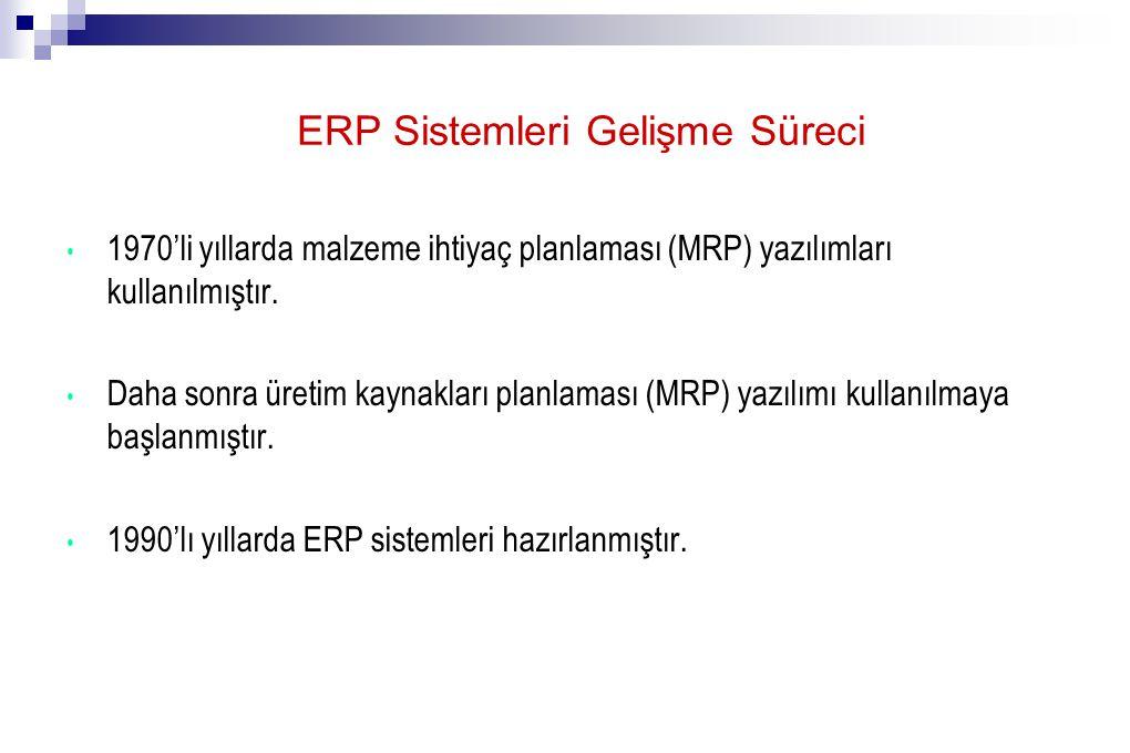 ERP Sistemleri Gelişme Süreci