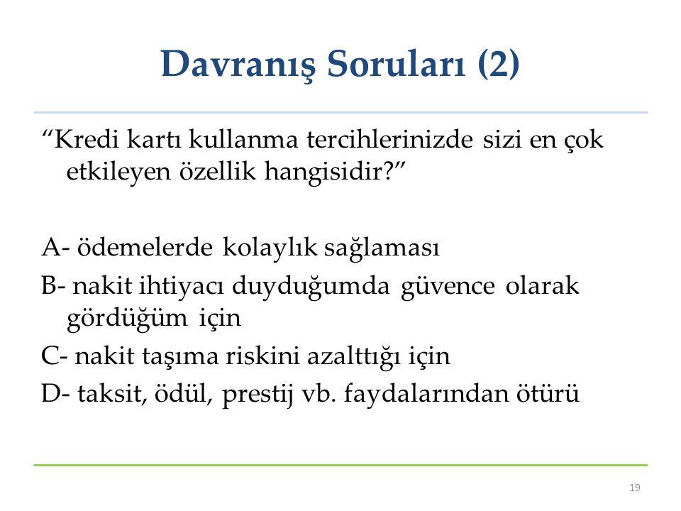 Davranış Soruları (2)