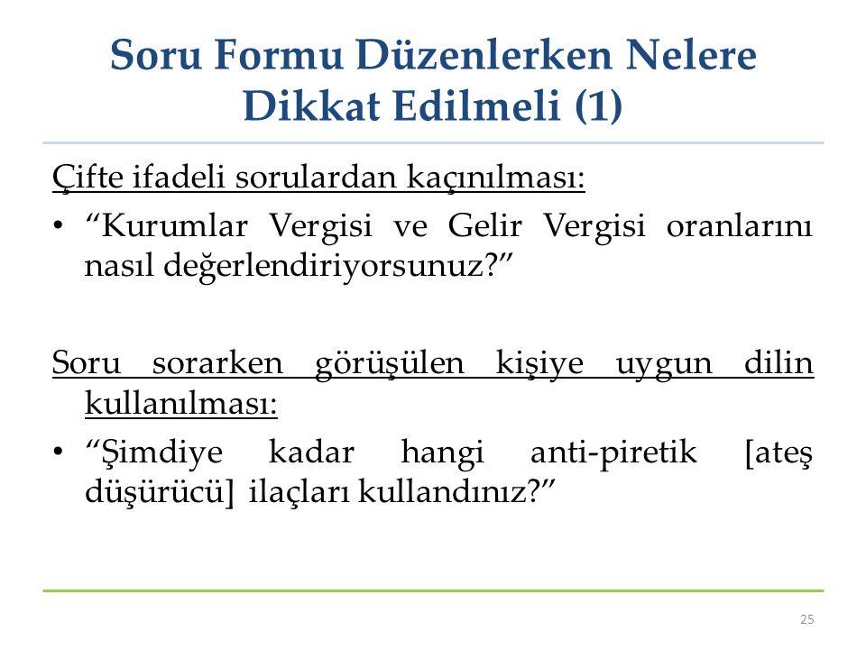 Soru Formu Düzenlerken Nelere Dikkat Edilmeli (1)