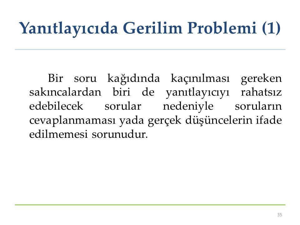 Yanıtlayıcıda Gerilim Problemi (1)