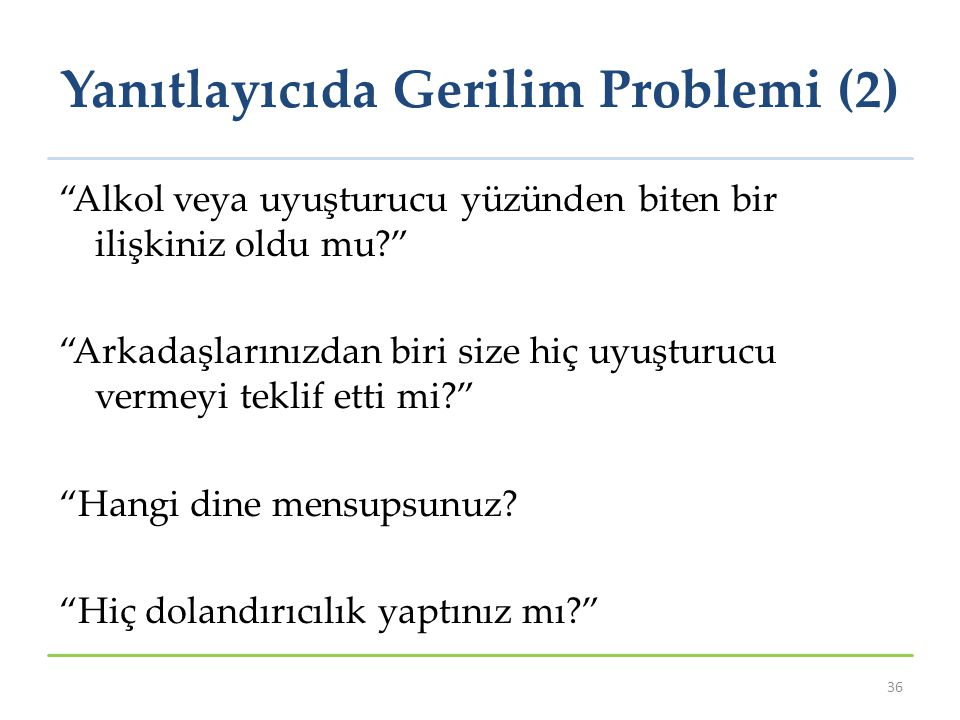 Yanıtlayıcıda Gerilim Problemi (2)