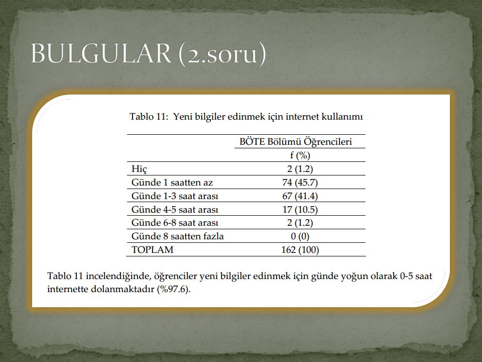 BULGULAR (2.soru)