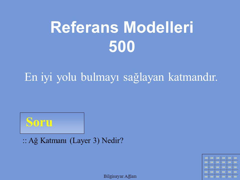 Referans Modelleri 500 Soru En iyi yolu bulmayı sağlayan katmandır.