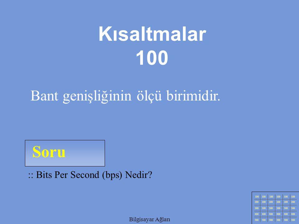 Kısaltmalar 100 Soru Bant genişliğinin ölçü birimidir.