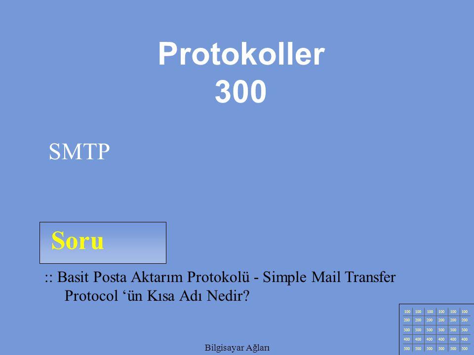 Protokoller 300 SMTP. Soru. :: Basit Posta Aktarım Protokolü - Simple Mail Transfer Protocol 'ün Kısa Adı Nedir