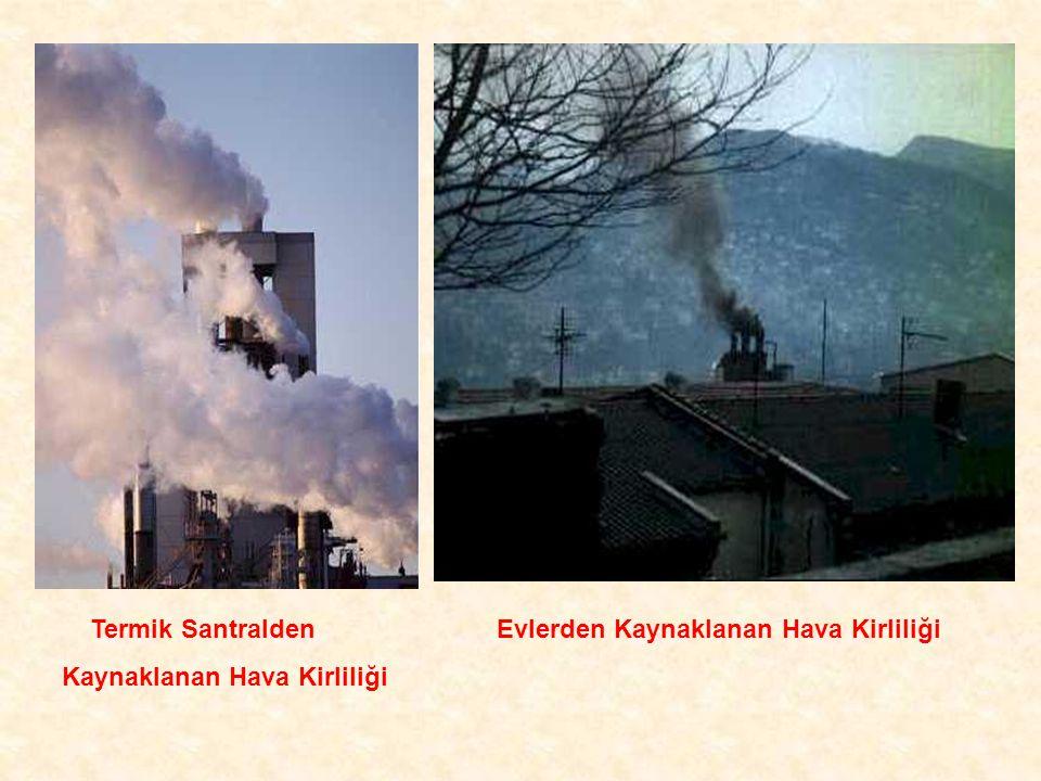 Termik Santralden Kaynaklanan Hava Kirliliği Evlerden Kaynaklanan Hava Kirliliği