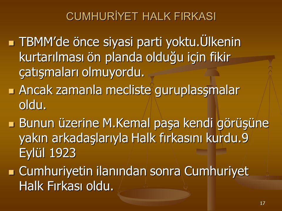 CUMHURİYET HALK FIRKASI