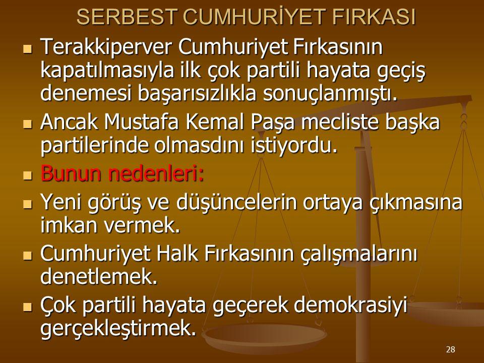 SERBEST CUMHURİYET FIRKASI