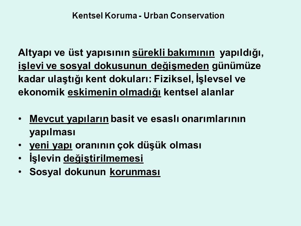 Kentsel Koruma - Urban Conservation