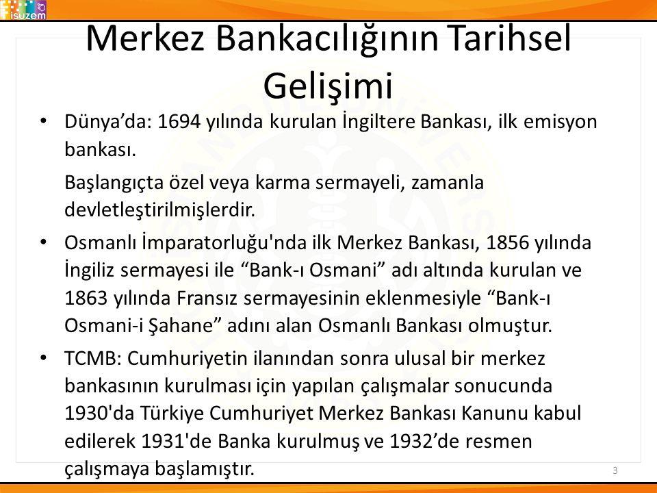 Merkez Bankacılığının Tarihsel Gelişimi