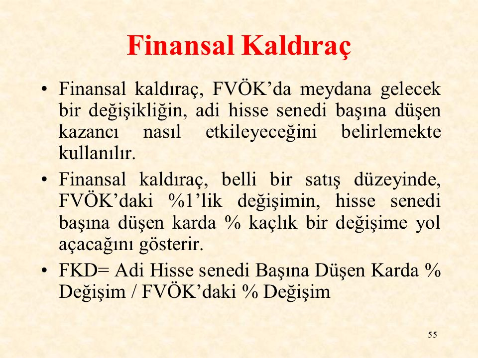 Finansal Kaldıraç