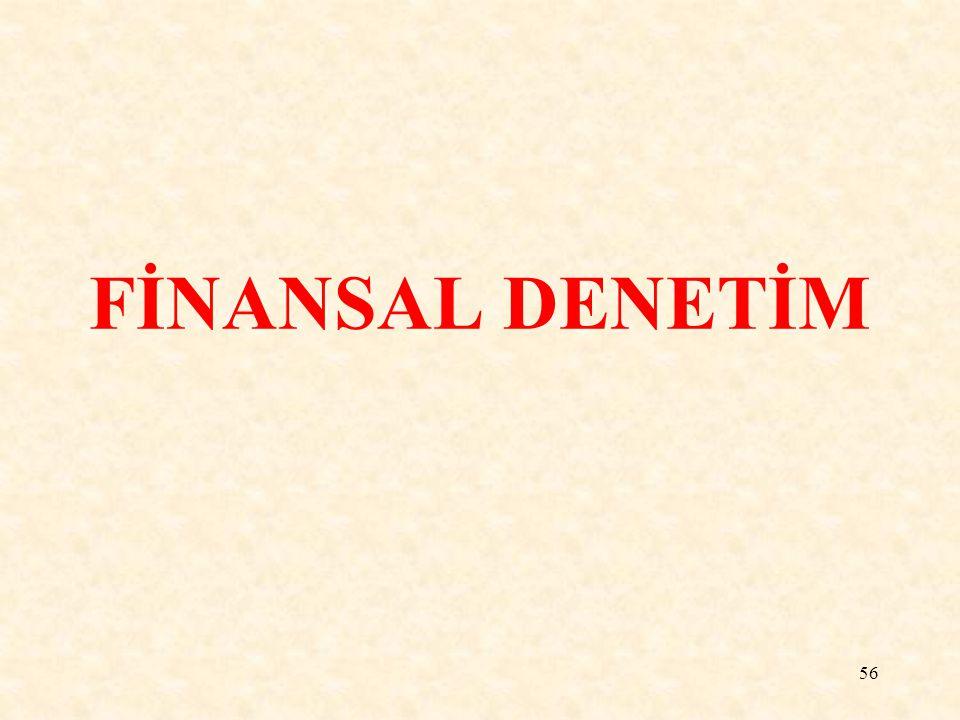 FİNANSAL DENETİM