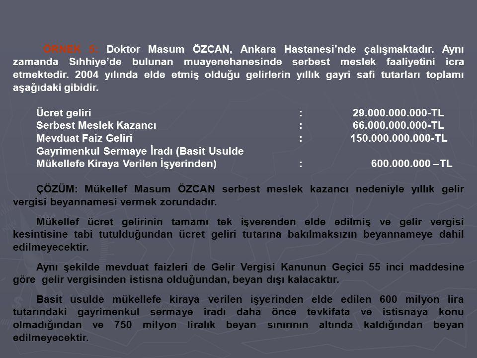 Serbest Meslek Kazancı : 66.000.000.000-TL