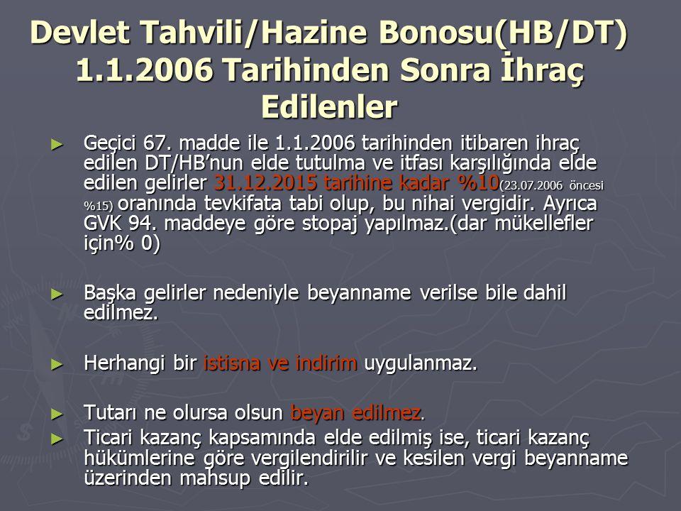 Devlet Tahvili/Hazine Bonosu(HB/DT) 1. 1