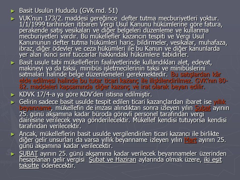 Basit Usulün Hududu (GVK md. 51)