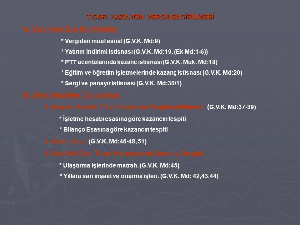 TİCARİ KAZANCIN VERGİLENDİRİLMESİ