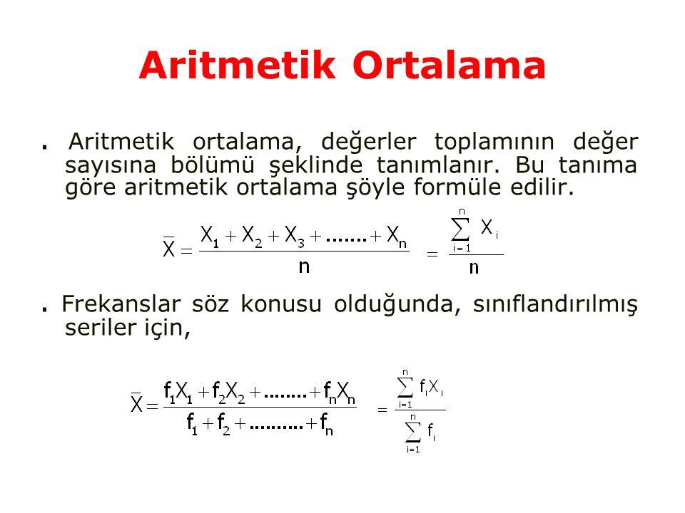 Aritmetik Ortalama